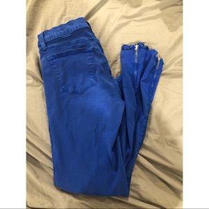 J Brand cobalt blue jeggings
